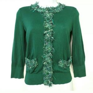 Kate Spade cardigan Silk blend Kelly green
